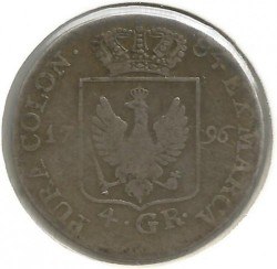 Pièce > 4grosze, 1796-1798 - Prusse  - obverse