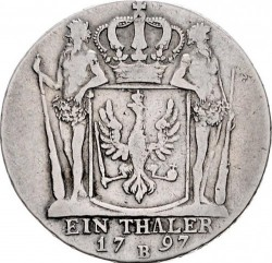 Moneta > 1thaler, 1790-1797 - Prusy  - reverse