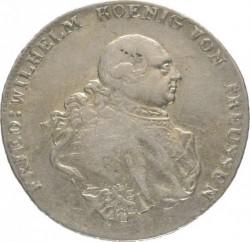 Монета > 1рейхсталер, 1786-1791 - Прусия  - obverse