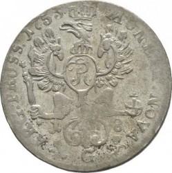 """Moneta > 18groszy, 1753 - Prusy  (Znak """"G"""" ) - reverse"""