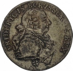 "Moneda > 18groszy, 1753 - Prusia  (Marca de ceca ""G"") - obverse"