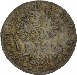 "Moneda > 18groszy, 1753 - Prusia  (Marca de ceca ""G"") - reverse"