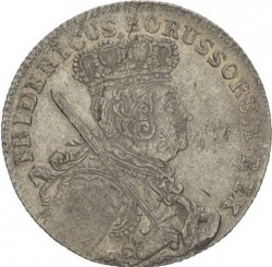 Moneta > 18groszy, 1755-1759 - Prusy  - obverse