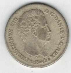 سکه > 4ریسبانکاسکیلینگ, 1841-1842 - دانمارک  - obverse