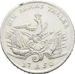 Moneta > 1reichsthaler, 1750-1752 - Prusy  - reverse