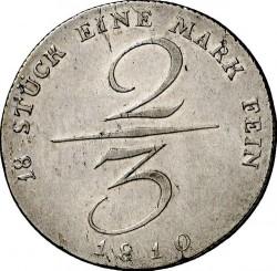 מטבע > ⅔טלר, 1810 - פרוסיה  - reverse
