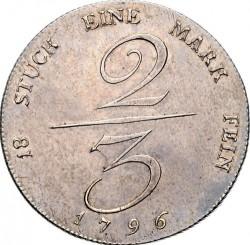 Moneta > ⅔tallero, 1796-1801 - Prussia  - reverse