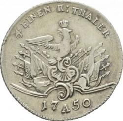 Pièce > ¼reichsthaler, 1750-1752 - Prusse  - reverse