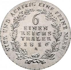 Монета > ⅙рейхсталер, 1809-1818 - Прусия  - reverse