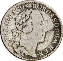 Moneta > 1/12reichstaler, 1764-1771 - Prussia  (Wide date) - obverse