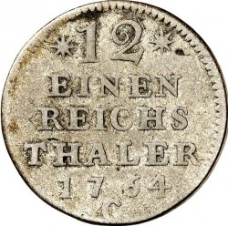 Moneta > 1/12reichstaler, 1764-1771 - Prussia  (Wide date) - reverse