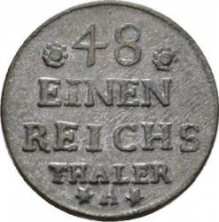 Moneta > 1/48tallero, 1750-1753 - Prussia  - reverse