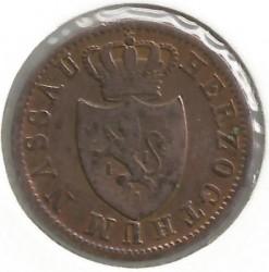 Moneta > 1kreuzer, 1830-1838 - Nassau   - obverse