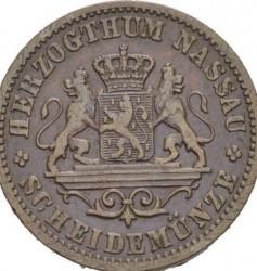 Moneta > 1kreuzer, 1859-1863 - Nassau   - obverse
