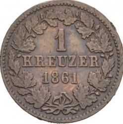 Moneta > 1kreuzer, 1859-1863 - Nassau   - reverse
