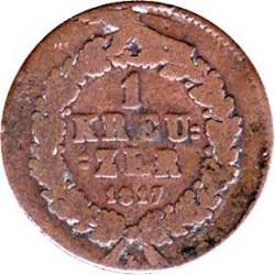 Монета > 1крейцер, 1817-1818 - Нассау  - reverse
