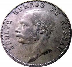 Moneda > 1vereinsthaler, 1863 - Nasáu  - obverse