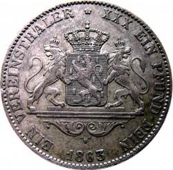 Moneda > 1vereinsthaler, 1863 - Nasáu  - reverse