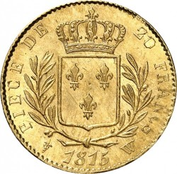 Монета > 20франків, 1814-1815 - Франція  - reverse
