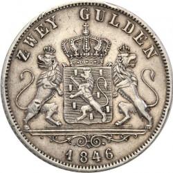 Монета > 2гульдена, 1846-1847 - Нассау  - reverse
