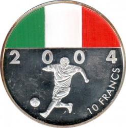 Moneta > 10franków, 2004 - Kongo - KRD  (Futbol - Włochy) - reverse