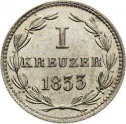 Монета > 1крейцер, 1832-1835 - Нассау  - reverse