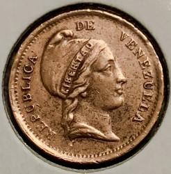 Mynt > ¼centavo, 1852 - Venezuela  (Utan myntmärke) - obverse