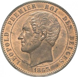 Moneta > 10 centesimi, 1853 - Belgio  (Marriage of The Duke) - obverse