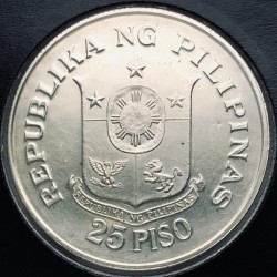Coin > 25 piso, 1974 - Philippines  (25th Anniversary of Cental Bank) - obverse