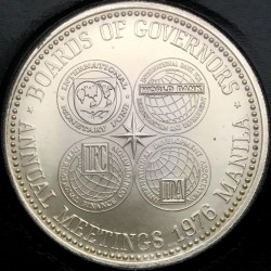 Coin > 50 piso, 1976 - Philippines  (Meetings of the International Monetary Fund in Manila) - obverse