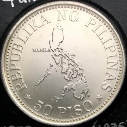 Coin > 50 piso, 1976 - Philippines  (Meetings of the International Monetary Fund in Manila) - reverse