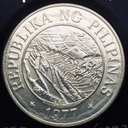 Coin > 25piso, 1977 - Philippines  (FAO - Banaue Rice Terraces) - reverse