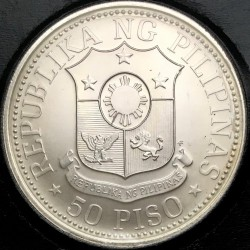 Coin > 50 piso, 1975 - Philippines  (3rd Anniversary of the New Society) - obverse