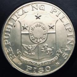 Coin > 1piso, 1969 - Philippines  (100th Anniversary - Birth of Emilio Aguinaldo) - obverse