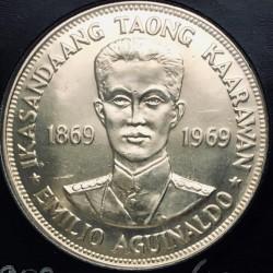 Coin > 1piso, 1969 - Philippines  (100th Anniversary - Birth of Emilio Aguinaldo) - reverse