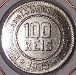 Moneda > 100réis, 1918-1935 - Brasil  - reverse