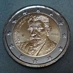 Coin > 2euro, 2018 - Greece  (75th Anniversary - Death of Kostis Palamas) - reverse