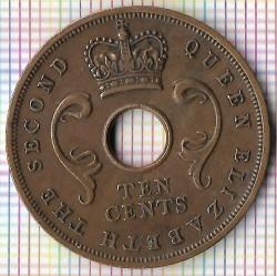 Moneda > 10cents, 1956 - Àfrica Oriental Britànica  - obverse