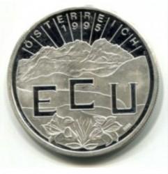 Монета > 1ЕКЮ, 1995 - Австрія  (Vienna) - obverse