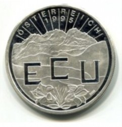 Moneta > 1ECU, 1995 - Austria  (Vienna) - obverse