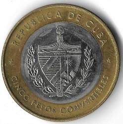 Монета > 5песо, 1999 - Куба  - obverse