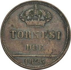 Moneta > 2tornesi, 1825-1826 - Due Sicilie  - reverse