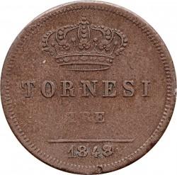 Кованица > 3tornesi, 1839-1858 - Две Сицилије  - reverse