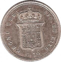 Кованица > 10grani, 1838-1848 - Две Сицилије  - reverse