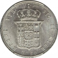 Moneta > 20grani, 1859 - Dwie Sycylie  (Franciszek II) - reverse