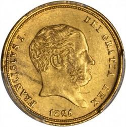 Moneda > 3ducados, 1826 - Dos Sicilias  - obverse