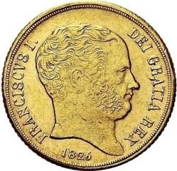 Кованица > 6ducat, 1826 - Две Сицилије  - obverse