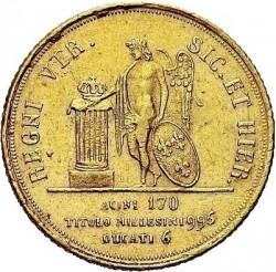 Кованица > 6ducat, 1826 - Две Сицилије  - reverse