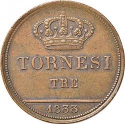 Кованица > 3tornesi, 1833-1838 - Две Сицилије  - reverse