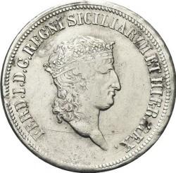 Moneta > 120grani, 1818 - Dwie Sycylie  (Mała głowa) - obverse